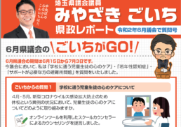 令和2年6月埼玉県議会で質問号